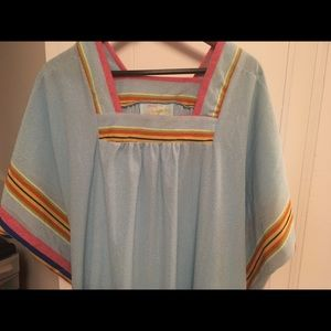 Vintage terry cloth robe/loungewear/beach cover-up